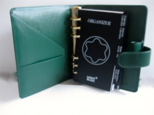 Montblanc Card Case forest green-green leather
