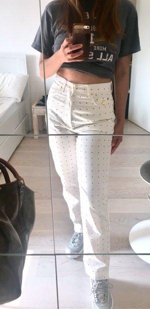 Pantalone a vita alta bianco