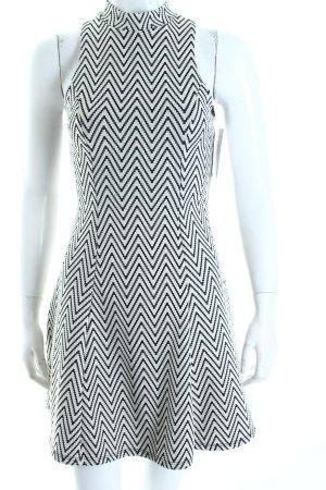 Monteau Los Angeles A-Linien Kleid schwarz-wollweiß Zackenmuster 60ies-Stil