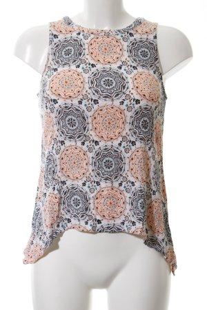 Monteau Los Angeles ärmellose Bluse abstraktes Muster Casual-Look