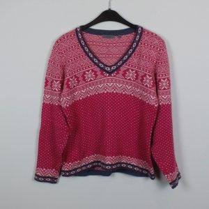 Montega Pullover Gr. M rosa gemustert (18/11/101)