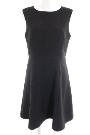 Montego A-Linien Kleid schwarz-goldfarben Webmuster Business-Look