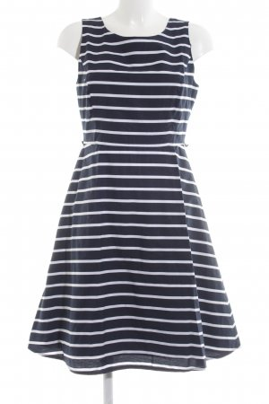 Montego Empire Dress blue-white striped pattern casual look