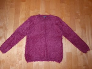 Montego Flauschiger Pullover Pulli Beere Himbeerrot M 38-40 Neu
