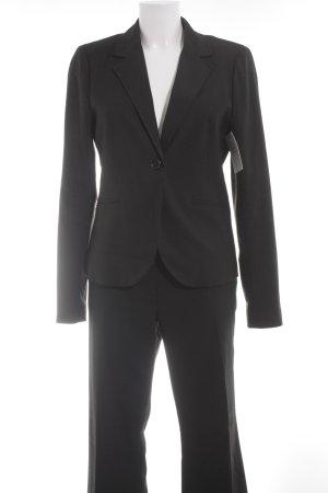 Montego Trouser Suit black pinstripe business style