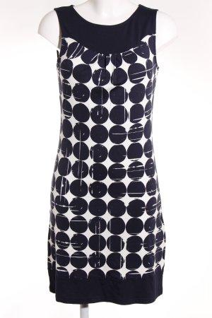 Montego Jerseykleid weiß-dunkelblau abstraktes Muster Casual-Look