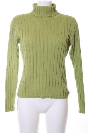 Montego Kapuzenpullover grün Streifenmuster Business-Look