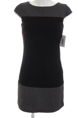 Montego Kurzarmkleid schwarz-grau Colourblocking Casual-Look