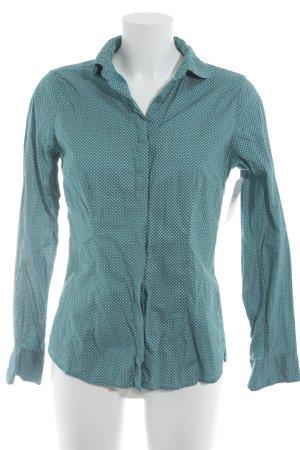 Montego Langarmhemd kadettblau-weiß Pepitamuster Casual-Look