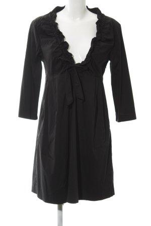 Montego Langarmkleid schwarz extravaganter Stil