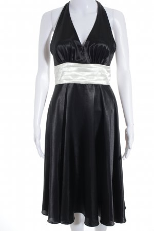 Montego Halter Dress black-white elegant