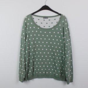 Montego Pullover Gr. L grün/weiß gepunktet (18/10/311)