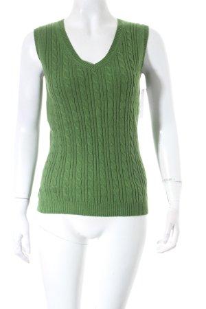 Montego Pullunder grün Zopfmuster klassischer Stil