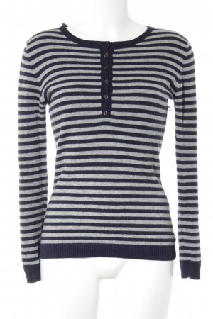 Montego Crewneck Sweater grey-dark blue striped pattern casual look