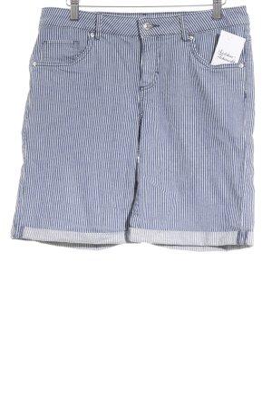 Montego Shorts dunkelblau-weiß Streifenmuster Casual-Look