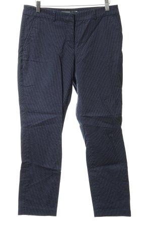 Montego Stoffhose dunkelblau-himmelblau Punktemuster Casual-Look