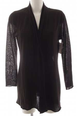 Montego Strick Cardigan schwarz Business-Look