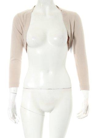 Montego Bolero lavorato a maglia beige chiaro stile minimalista