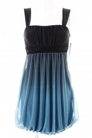 Montego Trägerkleid schwarz-graublau Elegant