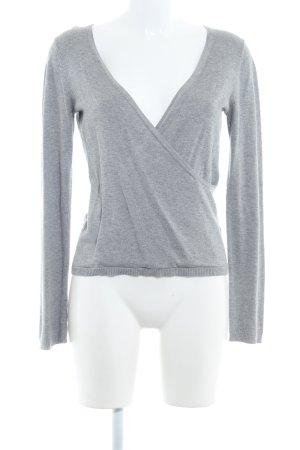 Montego V-Ausschnitt-Pullover hellgrau Casual-Look