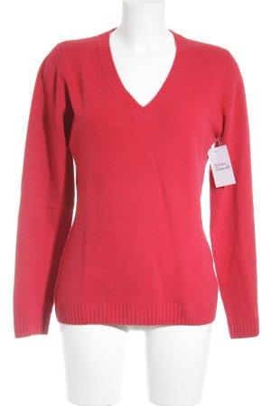 Montego V-Ausschnitt-Pullover rot Casual-Look
