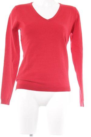 Montego V-Ausschnitt-Pullover rot Street-Fashion-Look