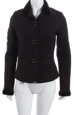 Montego Woll-Blazer dunkelbraun Street-Fashion-Look
