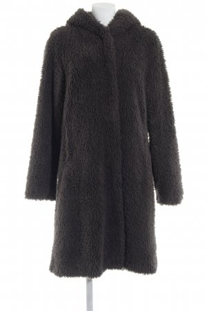 Montgomery Hooded Coat dark grey fluffy