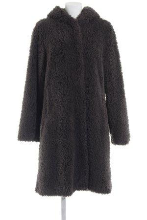 Montgomery Manteau à capuche gris foncé molletonné
