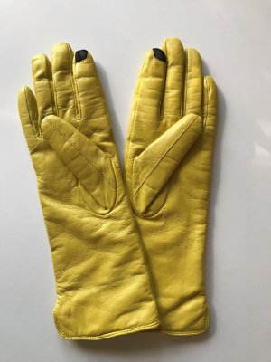 Montgomery Leather Gloves yellow-primrose leather