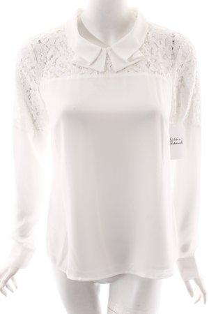 Monton Langarm-Bluse weiß Casual-Look