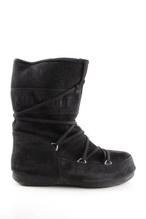 Moon boot Snowboots schwarz Street-Fashion-Look