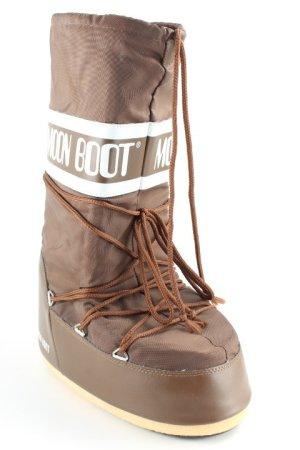 Moon boot Snowboots hellbraun-wollweiß sportlicher Stil