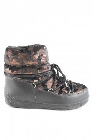 Moon boot Snow Boots black-russet camouflage pattern extravagant style