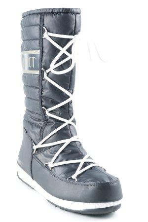 Moon boot Snowboots schwarz sportlicher Stil
