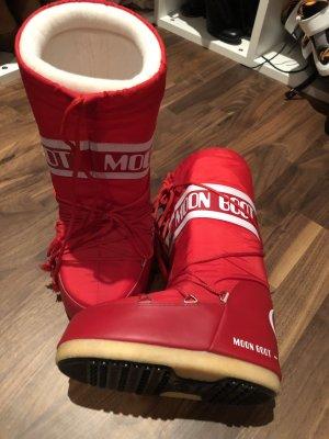 Moon Boots Tecnica 2x getragen 39/40 rot