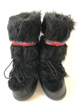 nebulus Snow Boots black fake fur