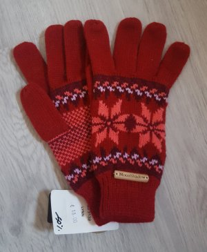 Gloves dark red-brick red