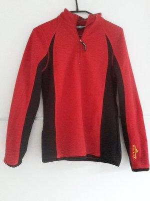 Pullover in pile nero-rosso