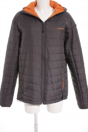 moorhead Windstopper dunkelgrau-orange Steppmuster Casual-Look