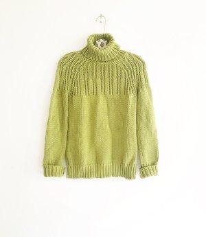 moosgruener pulli / vintage / granny / boho / hippie / grün / strick pullover