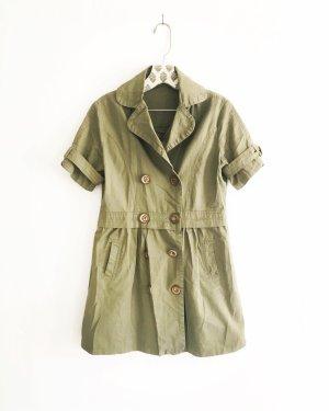 moosgrünes kleid / mini / vintage / edgy / boho / oliv / khaki