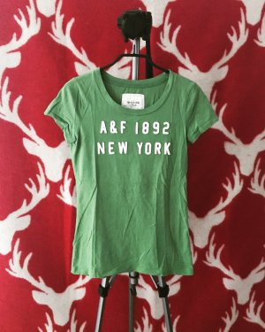 moosgrünes t-shirt / abercrombie & fitch / basics / A&F