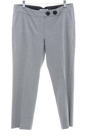 More & More Pantalon 7/8 noir-blanc motif à carreaux style d'affaires