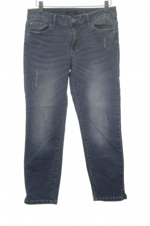 More & More 7/8-jeans blauw straat-mode uitstraling