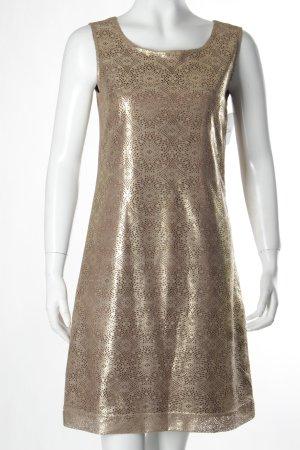 More & More A-Linien Kleid bronzefarben abstraktes Muster Elegant
