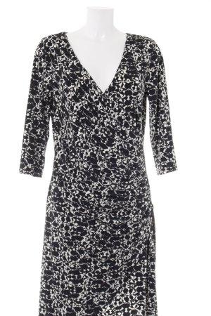 More & More A-Linien Kleid schwarz-weiß grafisches Muster Elegant