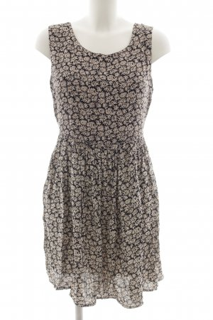 More & More A-Linien Kleid weiß-schwarz Blumenmuster Casual-Look