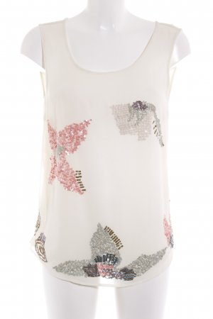 More & More A-Linien Top wollweiß florales Muster Casual-Look