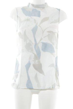 More & More ärmellose Bluse abstraktes Muster klassischer Stil